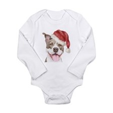 Christmas Pit Bull Terrier Long Sleeve Infant Body