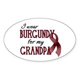 Wear Burgundy - Grandpa Decal