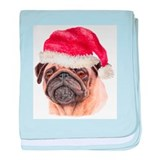 Christmas Pug Infant Blanket