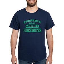 Property of a Irish Firefighter Black T-Shirt