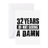 32 years of not giving a damn Greeting Cards (Pk o