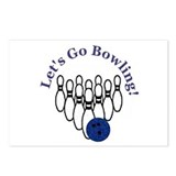 Let's Go Bowling Postcards (Package of 8)