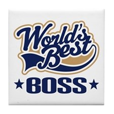 Worlds Best Boss Tile Coaster