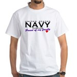 US Navy Husband White T-Shirt