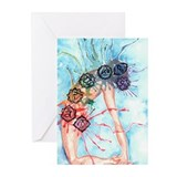 Yoga Ustrasana Greeting Cards (Pk of 10)