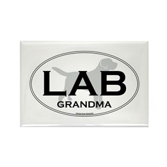 LAB GRANDMA II Rectangle Magnet