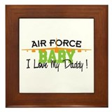Air Force Baby Framed Tile
