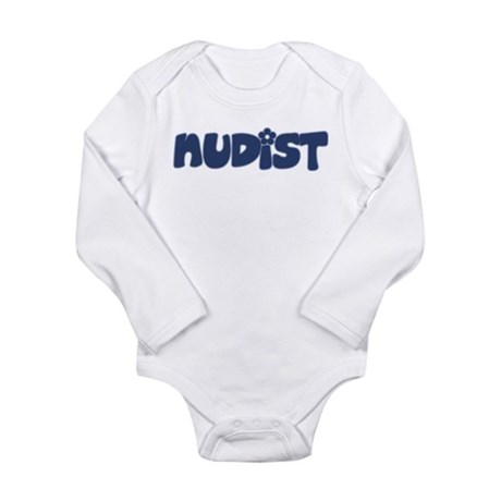 Nudist Long Sleeve Infant Bodysuit
