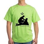 Masonic Friend to Friend Green T-Shirt
