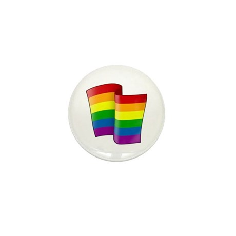 Flying Rainbow Pride Mini Button