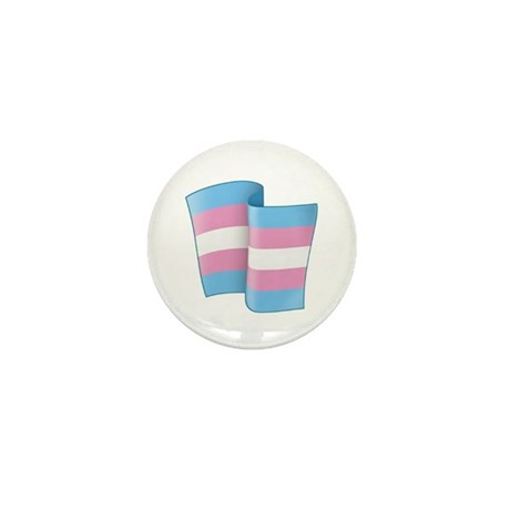 Flying Trans Pride Mini Button