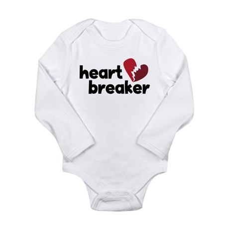 Heart Breaker Long Sleeve Infant Bodysuit