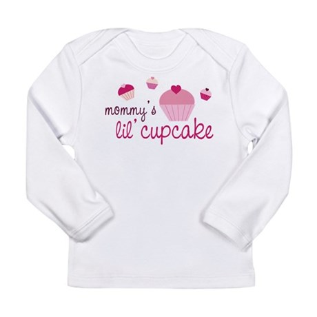 Mommy's Lil' Cupcake Long Sleeve Infant T-Shirt