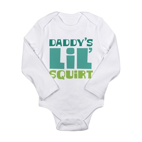Daddy's Lil' Squirt Long Sleeve Infant Bodysuit