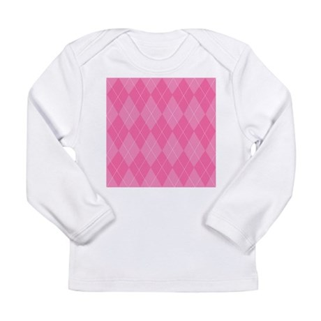 Pink Argyle Long Sleeve Infant T-Shirt