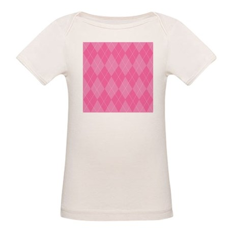 Pink Argyle Organic Baby T-Shirt