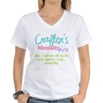 Crafter's Mentality #374 Women's V-Neck T-Shirt