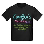 Crafter's Mentality #374 Kids Dark T-Shirt