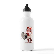 Toaster Girl Water Bottle