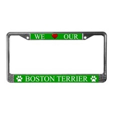 Green We Love Our Boston Terrier Frame