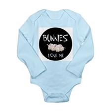 I LOVE BUNNIES Long Sleeve Infant Bodysuit