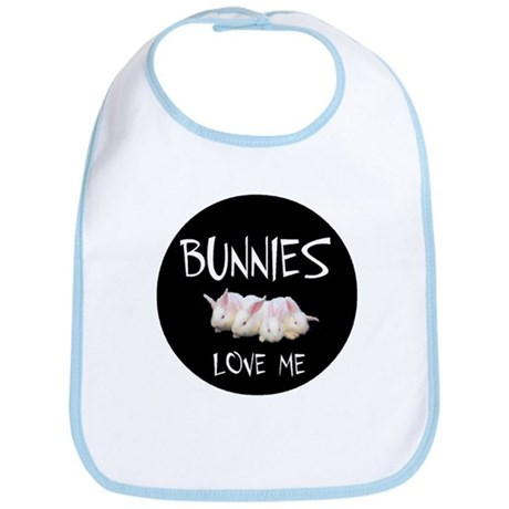 I LOVE BUNNIES Bib