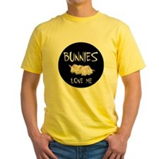 I LOVE BUNNIES T