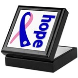 Hope Ribbon Keepsake Box