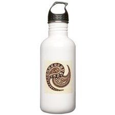 Abstract Paisley Pattern Water Bottle