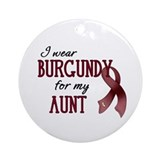 Wear Burgundy - Aunt Ornament (Round)