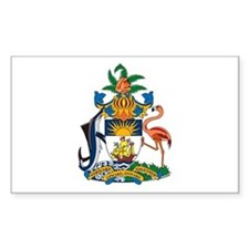 Bahamas Coat of Arms Rectangle Decal