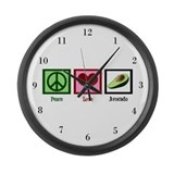 Peace Love Avocado Large Wall Clock