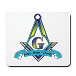 Masonic Faith, Hope, Charity Mousepad