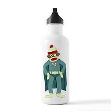 Sock Monkey Superhero Water Bottle