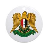 Syrian Coat of Arms Ornament (Round)