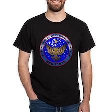 U.S.S. Old Sarum Ship's Crest Dark T-Shirt