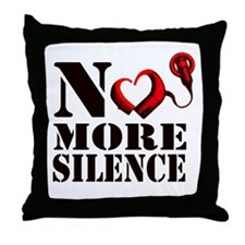 No More Silence Throw Pillow