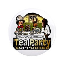 "Tea Party ~ 3.5"" Button"