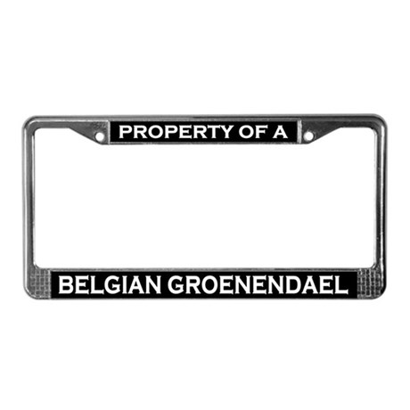 Property of Belgian Groenendael License Plte Frame