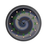 Neon Swirl Wall Clock