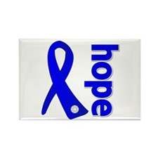 Hope Ribbon Colon Cancer Rectangle Magnet
