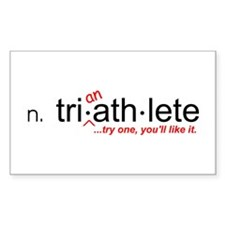 """""""Tri-an-Athlete"""" Rectangle Decal"""