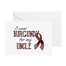 Wear Burgundy - Uncle Greeting Card
