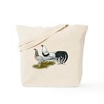 Yokohama Duckwing Chickens Tote Bag