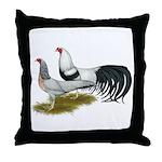 Yokohama Duckwing Chickens Throw Pillow