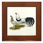 Yokohama Duckwing Chickens Framed Tile