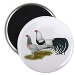 "Yokohama Duckwing Chickens 2.25"" Magnet (10 p"