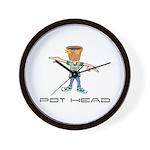 Pot Head Wall Clock