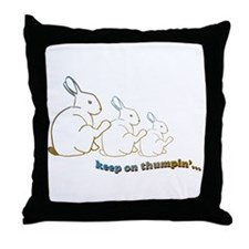 keep on thumpin' Throw Pillow