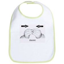 """more"" Baby Sign Language Bib"